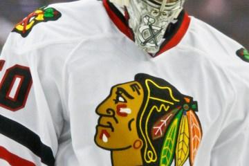 Corey Crawford of the Chicago Blackhawks.