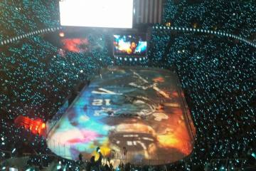 The pregame show prior to the puck drop was amazing.