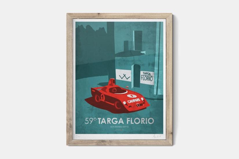 Blipshift Targa Florio Poster