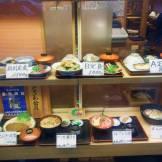 Plastic food in a shop window