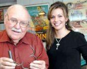 Sydney Radner Shows Houdini Cuffs to Elizabeth Dobrska