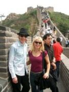 Sue-Anne Webster and Tim Ellis on a Great Wall in China Covering FISM