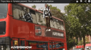 Inside Magic Image of Dynamo Levitating on London Bus