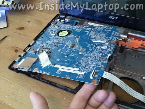 Lift up motherboard