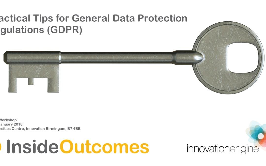 Practical Tips for GDPR Workshop