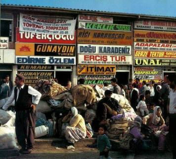 Topkapi bus station in the 1980s.