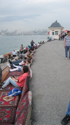 Enjoy a glass of tea at the Maiden's Tower, Istanbul.