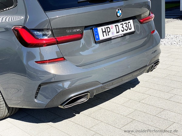 stainless steel exhaust with flap control valve for 3 series bmw g20 g21 320i 330i for m340i tailpipes