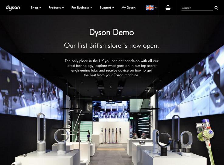 Dyson Demo concept store
