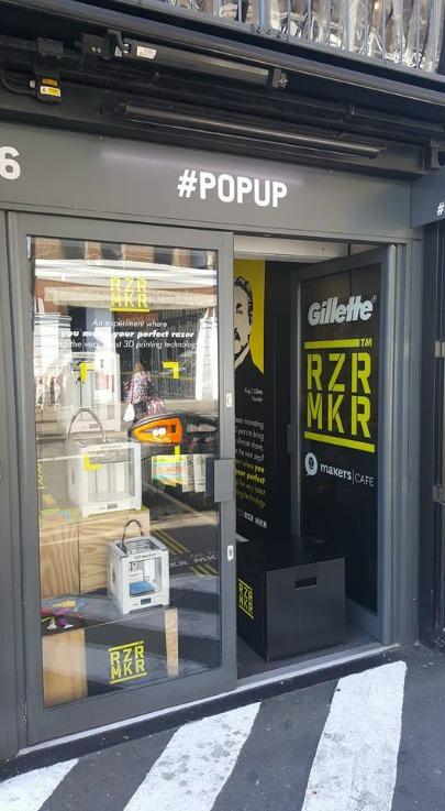 Gillette RZR MKR pop-up shop