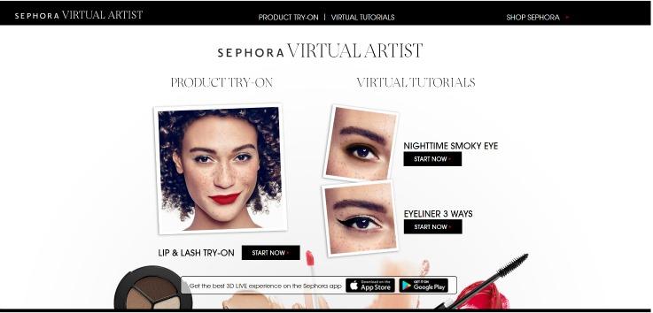 Sephora Virtual Artist digital technology