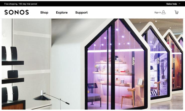 Sonos New York flagship concept store