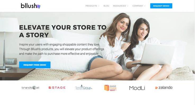 Bllush retail tech startup