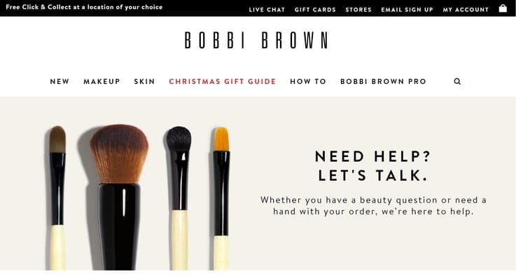 ecommerce online retail Bobbi Brown