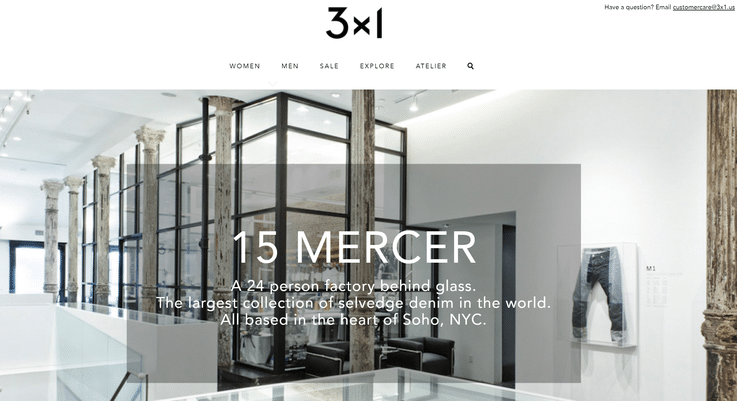 3x1 Denim luxury retail