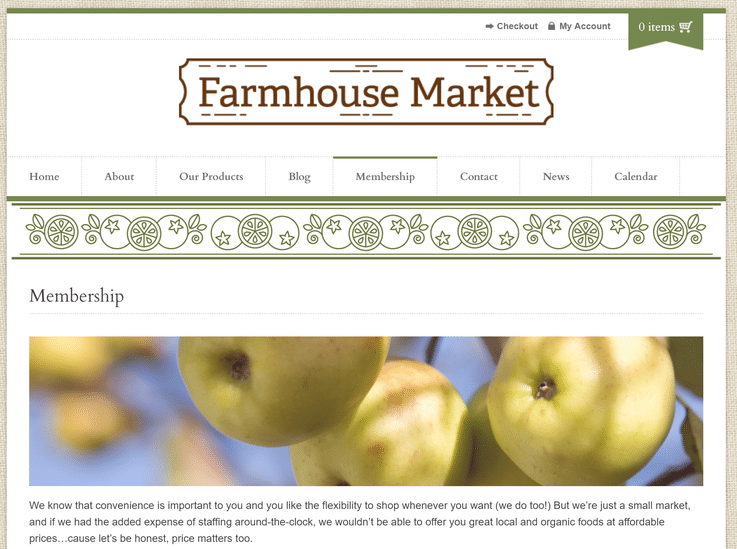 Farmhouse Market unstaffed self-checkout future grocery store