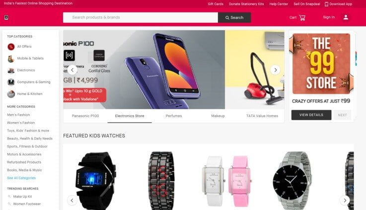 Snapdeal - ecommerce marketplaces