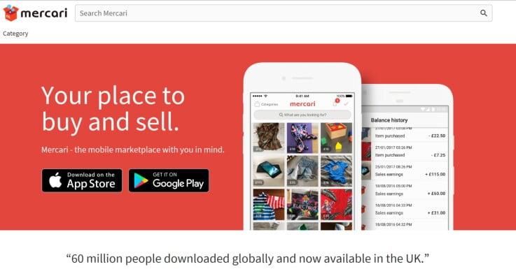 Mercari - ecommerce marketplaces