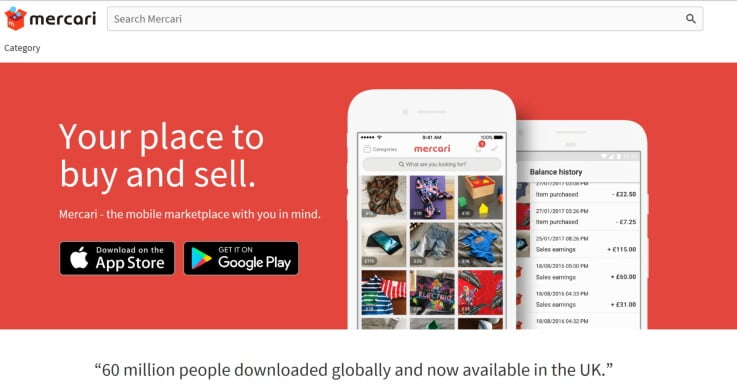 Mercari - ecommerce marketplaces
