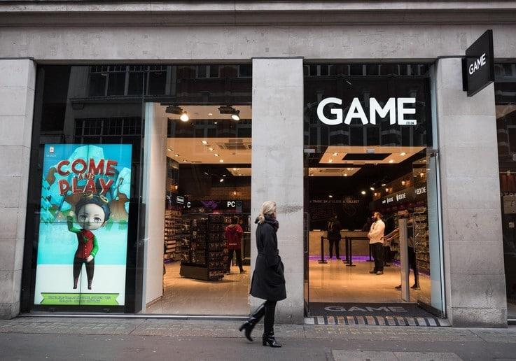 Game brick and mortar store sales