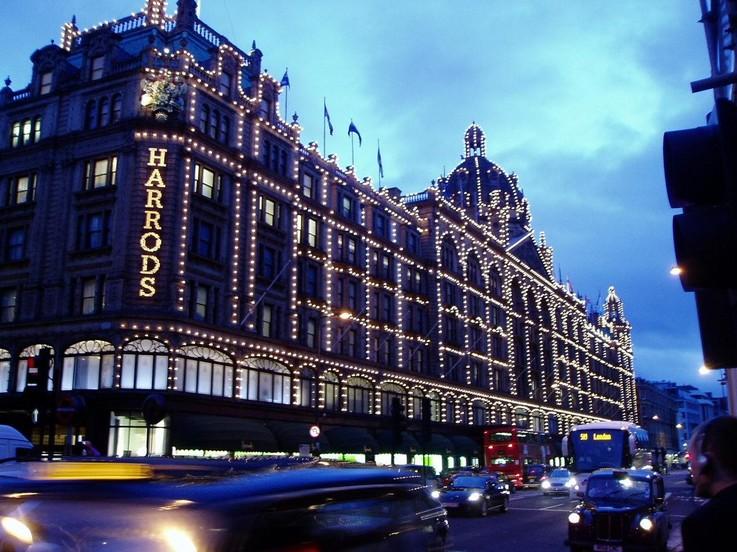 Harrods luxury store sales