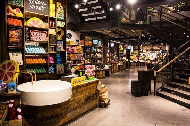 Lush physical retail sales