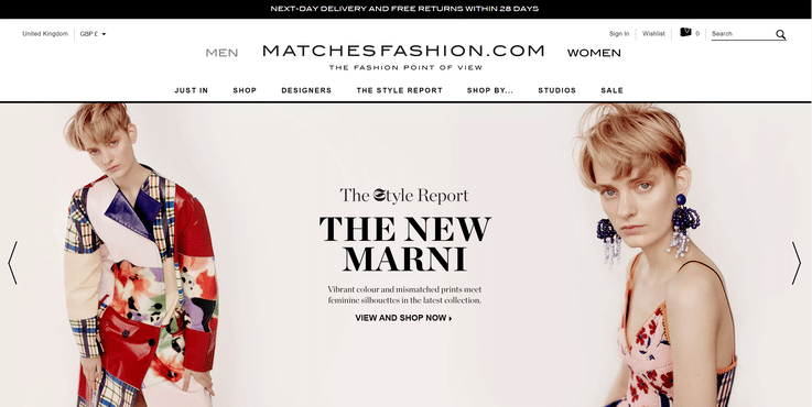 Matchesfashion luxury ecommerce retail