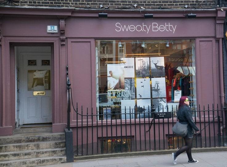 Sweaty Betty high sales in store