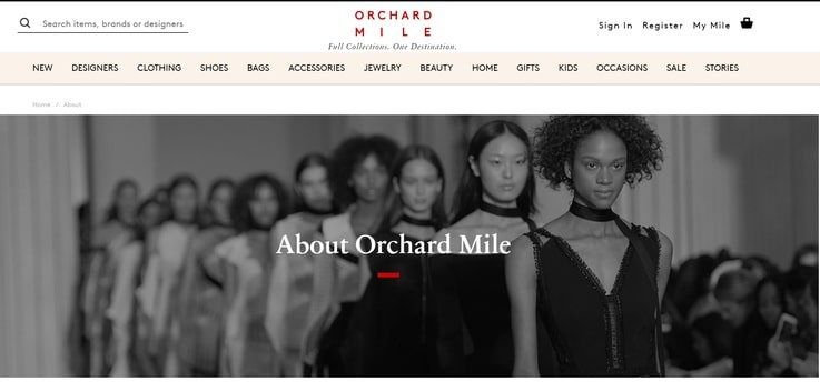 Orchard Mile luxury fashion retail