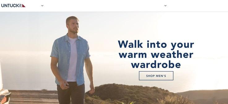 Untuckit future of fashion retail tech