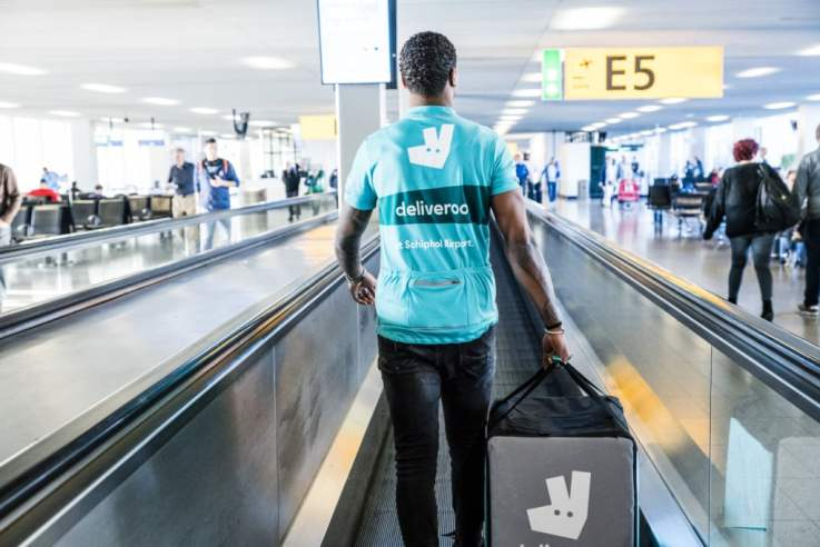 deliveroo schiphol airport delivery