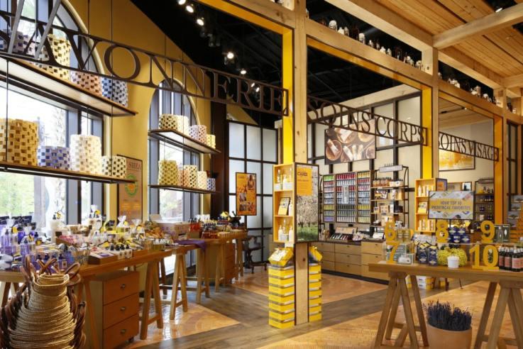 L'Occitane Disney Springs retail visual merchandising