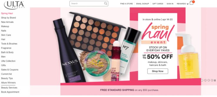 Ulta Beauty retail success US