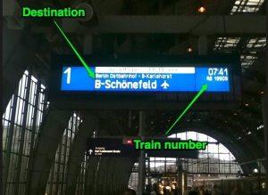 The train from Berlin to Schoenefeld