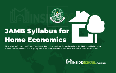 Joint Admissions and Matriculation Board (JAMB) Syllabus for Home Economics