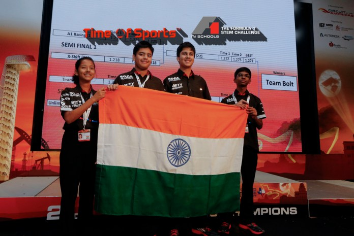 Time of Sports brings tech-based F-1 challenge to schools in India