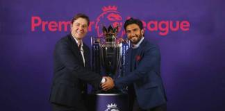 Ranveer scores big goal, partners with Premier League - InsideSport