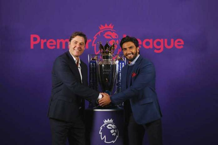 Ranveer scores big goal, partners with Premier League - InsideSport