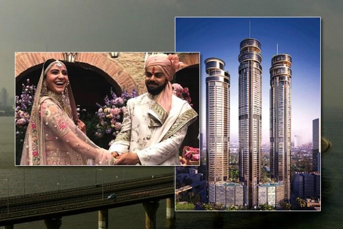 india's hottest celebrity couple, Sky Bungalows towers in Worli, Virat Kohli, Anushka Sharma, Omkar 1973 Luxury Floors, Insidesport