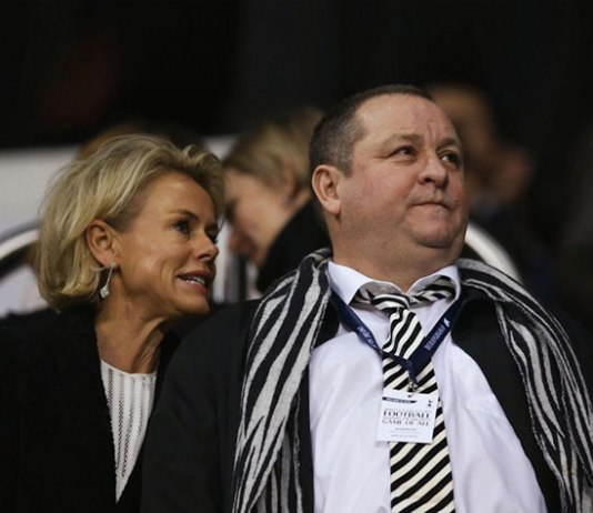 Amanada Staveley (right) of PCP Capital Partners with Mike Ashley (left), owner of Newcastle United - InsideSport