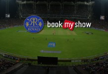 IPL 2018: Rajasthan Royals book bookmyshow for IPL ticketing service - InsideSport