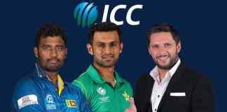 Shahid Afridi (right), Shoaib Malik (middle) and Thisara Perera (left): Afridi, Shoaib Malik in World XI for tie against Windies - InsideSport