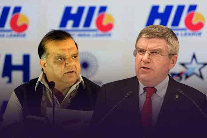 IOA and FIH chief Dr. Narinder Dhruv Batra (left) and IOC chief Thomas Bach (right): IOA aiming to score big on Olympic chief's India visit - InsideSport