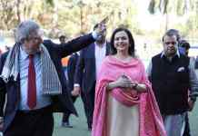 Thomas Bach (Left) with Nita Ambani (Middle) and Dr. Narinder Dhruv Batra (Right): Mumbai expresses interest for 2032 Olympics, 2026 Youth Games - InsideSport