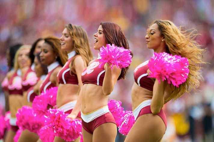 Redskins cheerleaders served as escorts on trip