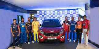 IPL 2018 Team captains posing with Tata Nexon - InsideSport