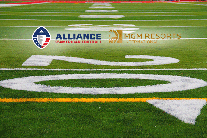 NFL's rival American football league,American football league,sponsorship deal with MGM Resorts,MGM Resorts,MGM Official Sports Betting Sponsor