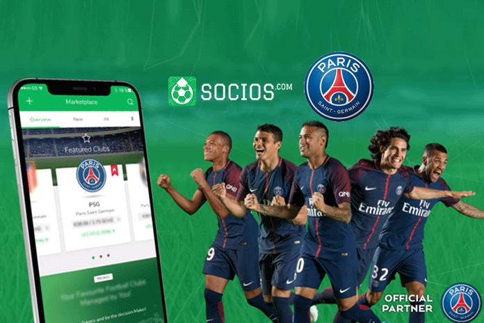 PSG First football Club,PSG with Socios.com deal,PSG First football Club Deal,French giants and top-flight club Deal,paris saint germain