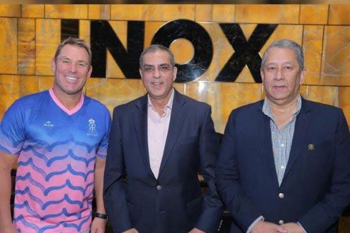 IPL 2019,Indian Premier League,Rajasthan Royals Sponsorships,Inox,Rajasthan Royals Partnerships
