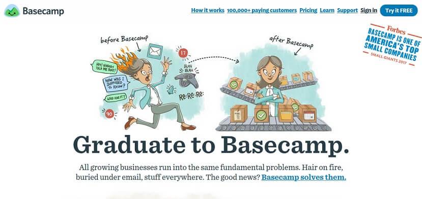 Basecamp - أداة لإدارة المشاريع